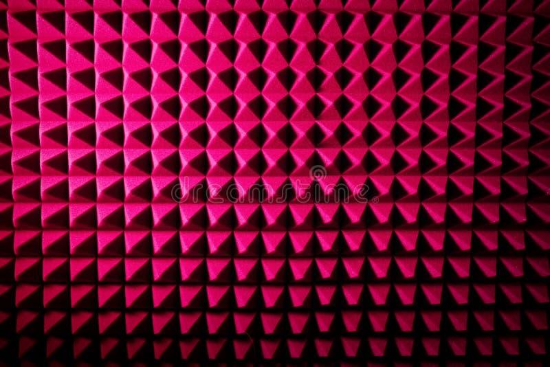 Suono dello studio di registrazione che inumidisce schiuma fonoisolante, fondo Isolazione di rumore protettiva e scossa, struttur immagine stock libera da diritti