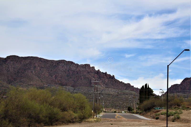 Supérieur, le comté de Pinal, ville en Arizona image libre de droits
