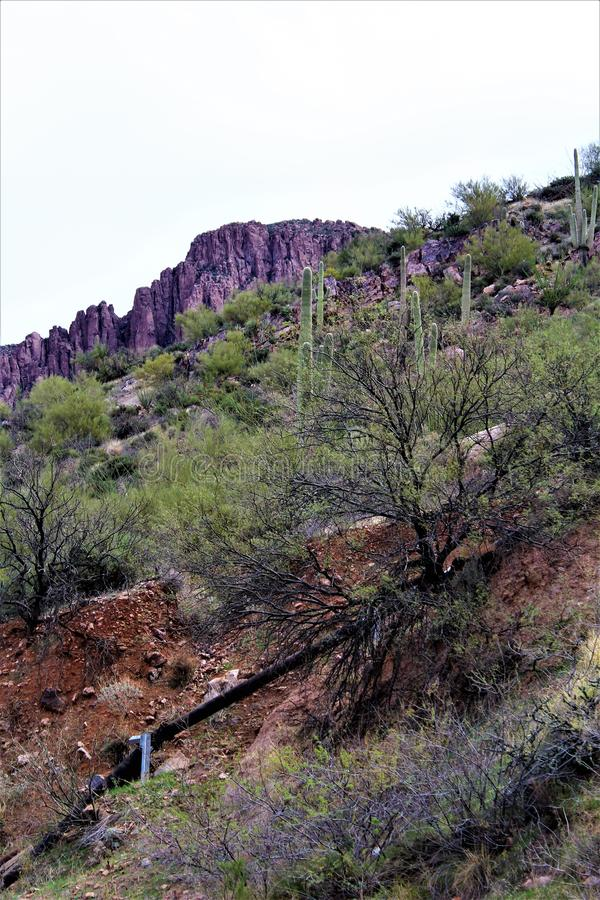 Supérieur, le comté de Pinal, ville en Arizona photos libres de droits