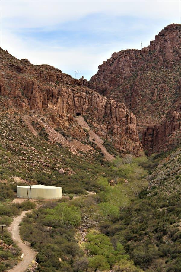 Supérieur, le comté de Pinal, ville en Arizona images stock