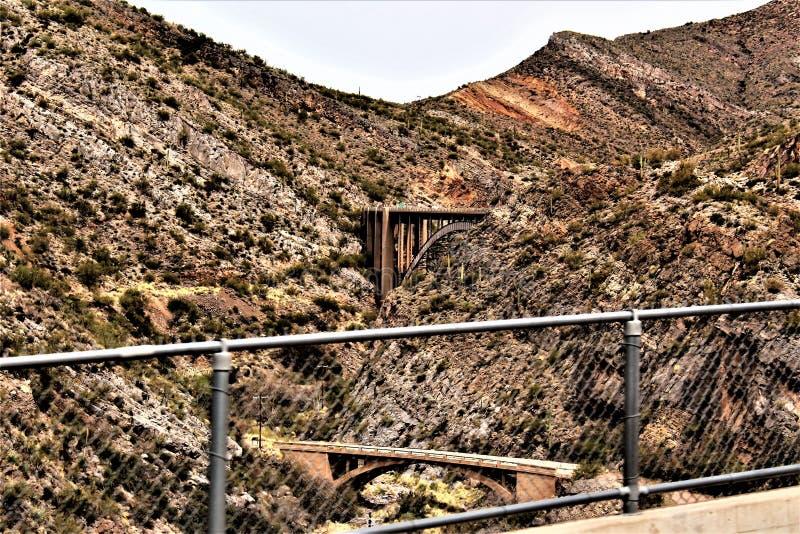 Supérieur, le comté de Pinal, ville en Arizona images libres de droits