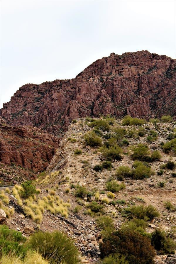 Supérieur, le comté de Pinal, ville en Arizona photographie stock libre de droits