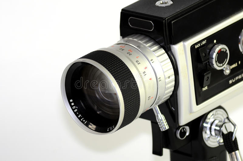 Download Super 8 film camera stock photo. Image of electronics - 12784916