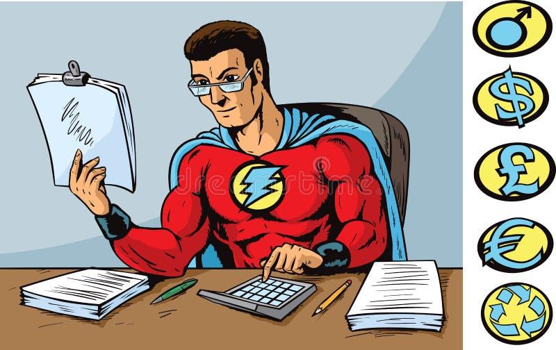 Super accountant stock illustration