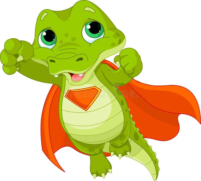 Super aligator ilustracja wektor