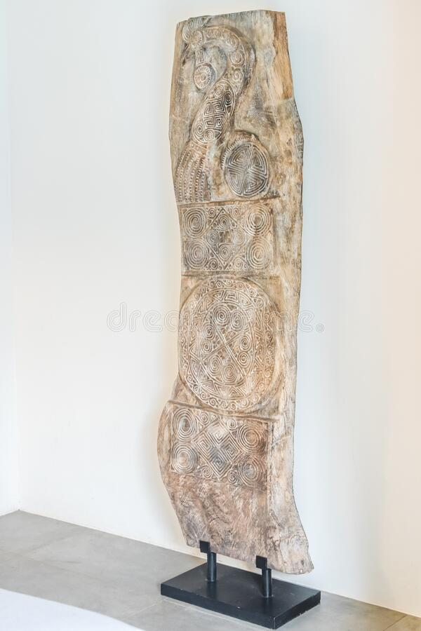 Super ancient wooden carving, 100 years old more royalty free stock photography