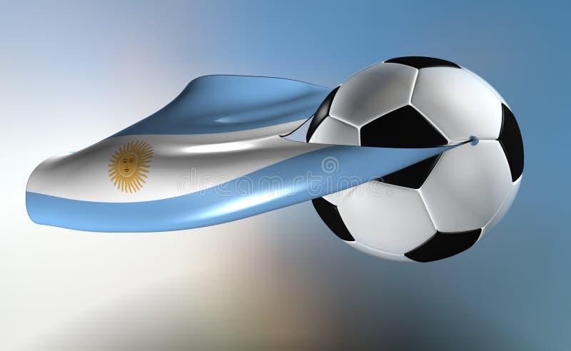 super Argentina futbol ilustracji