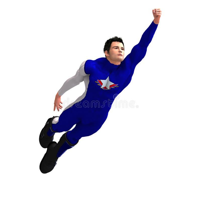 super błękitny bohater ilustracja wektor