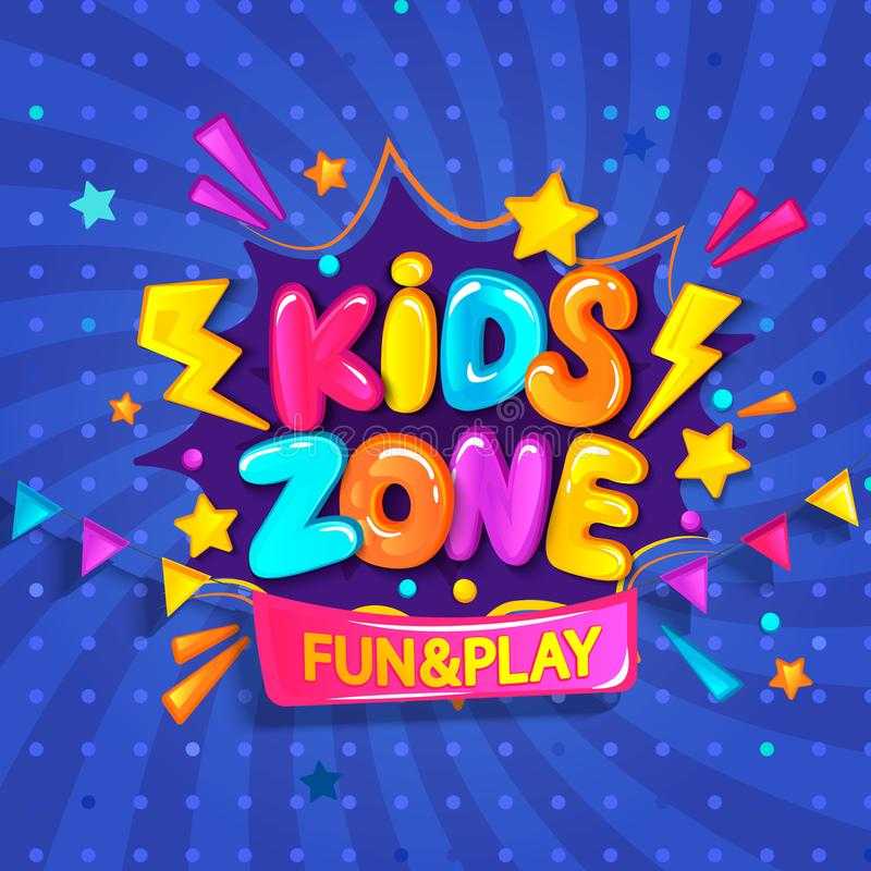 Free Super Banner For Kids Zone. Stock Images - 115334554