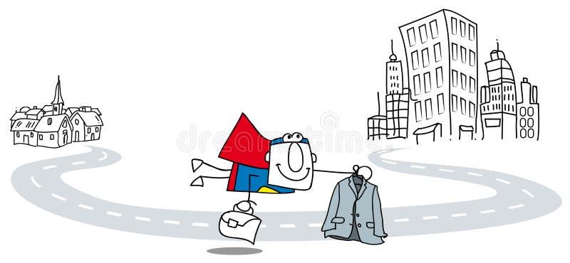 Super Bedrijfsmensenvlieg stock illustratie