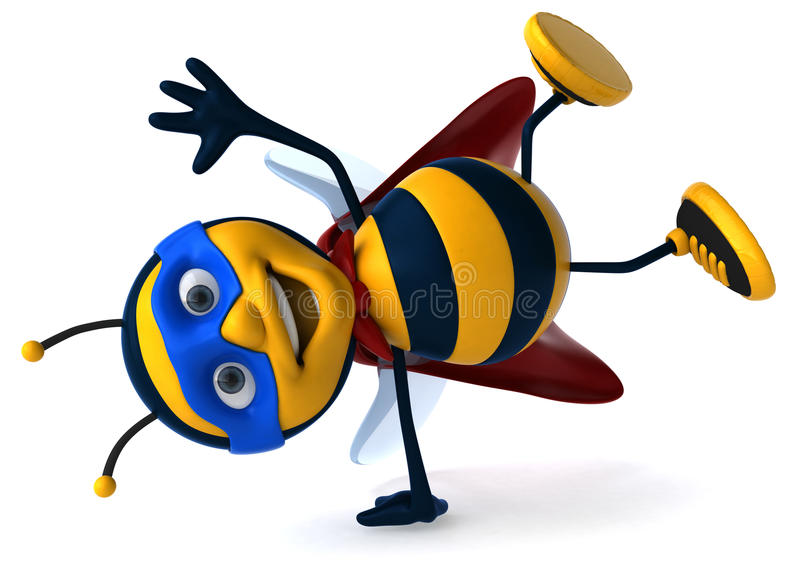Super bee. Fun bee, 3d generated picture royalty free illustration