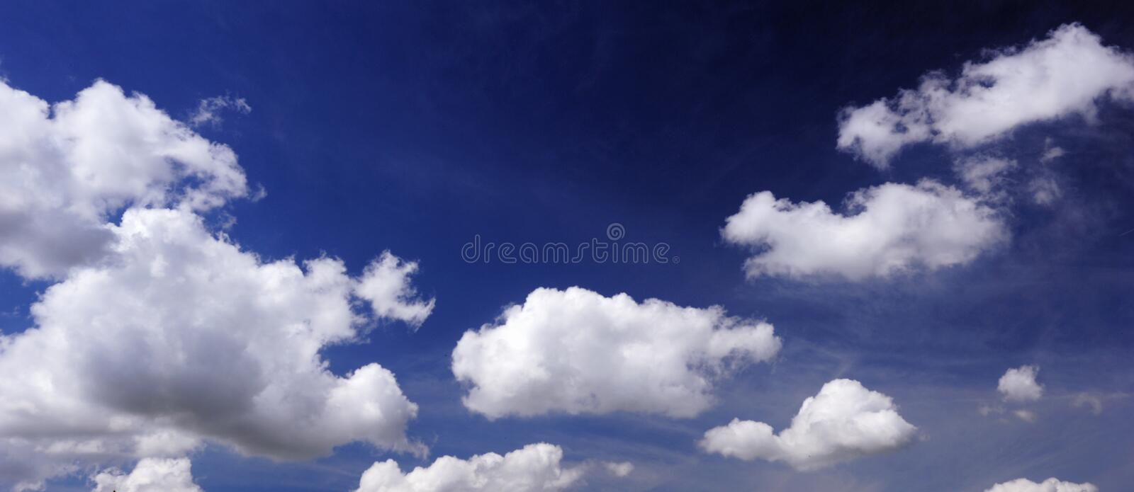 Super big clouds and sky in nature royalty free stock image