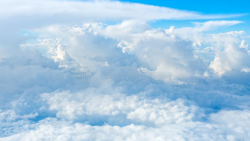 Super big clouds on sky. Super big fluffy clouds on sky in nature stock image