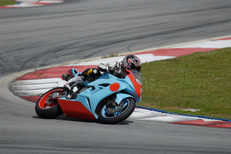 Super Bike. On Race track stock photo