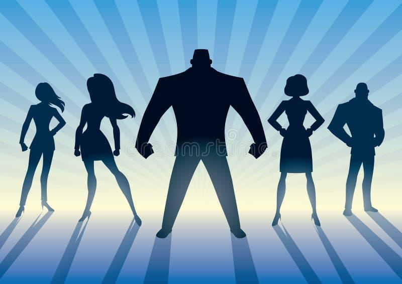 Super biznes drużyna royalty ilustracja