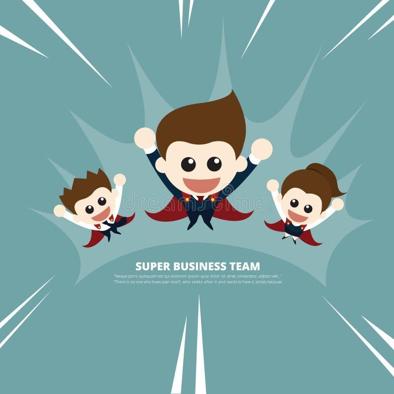 Super biznes drużyna ilustracji