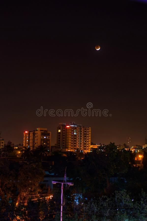 Super Blood Moon royalty free stock photo