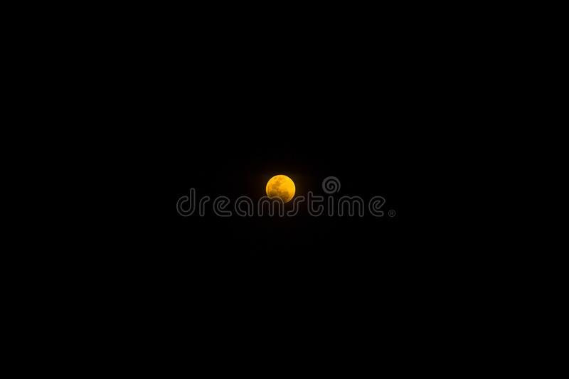 Super Blood moon. 31 january 2018 royalty free stock photography