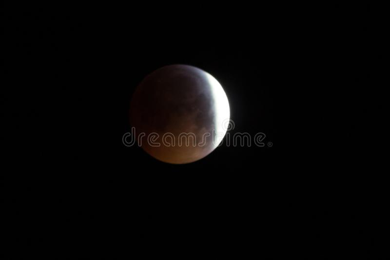 Super Blood Wolf Moon in January 2019 stock photos