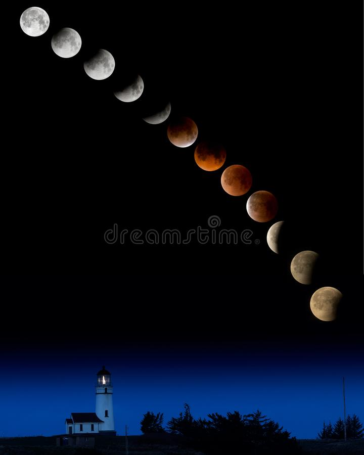 Super Blue Blood Moon royalty free stock photo