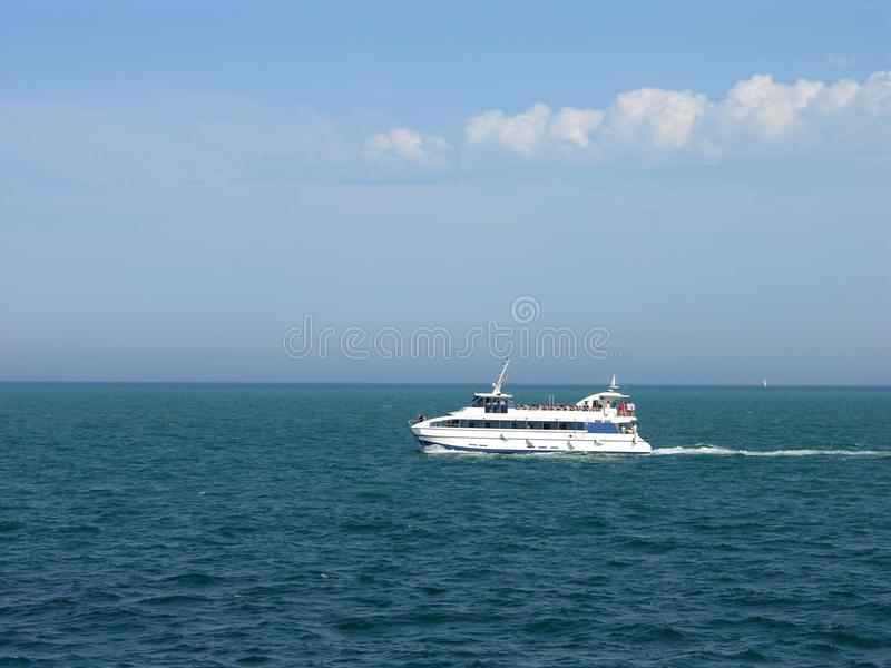 Super Boat royalty free stock photography