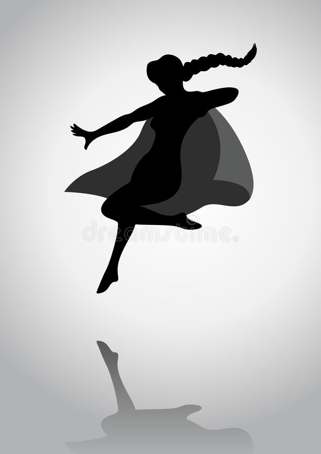 Super bobaterka ilustracja wektor