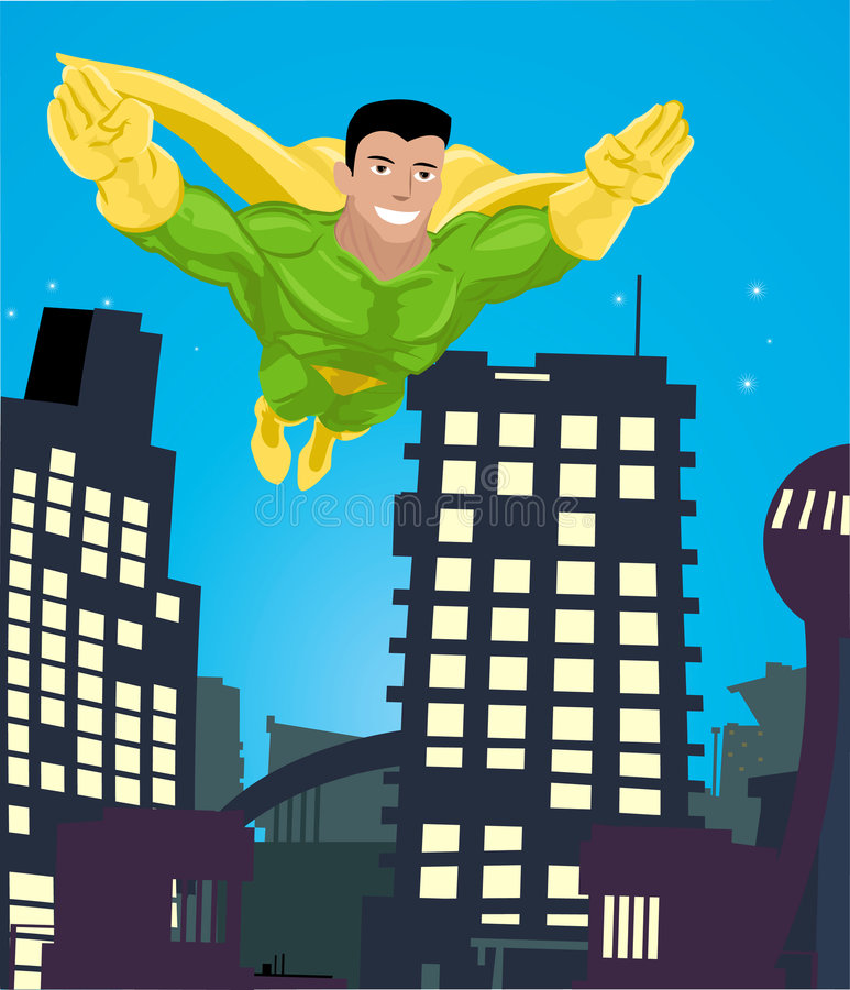 super bohater ilustracji