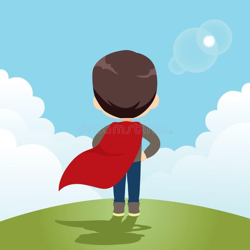 Super bohatera chłopiec ilustracji