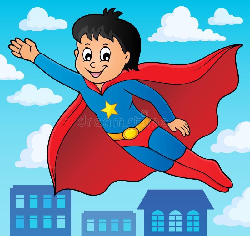 Super bohatera chłopiec tematu wizerunek 2 royalty ilustracja