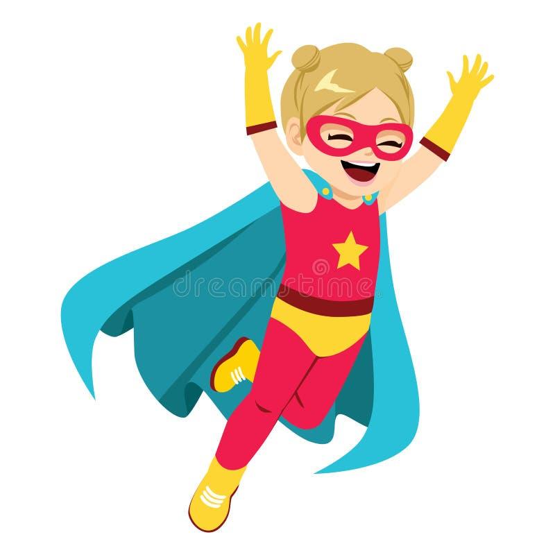 Super bohatera dziewczyna ilustracja wektor