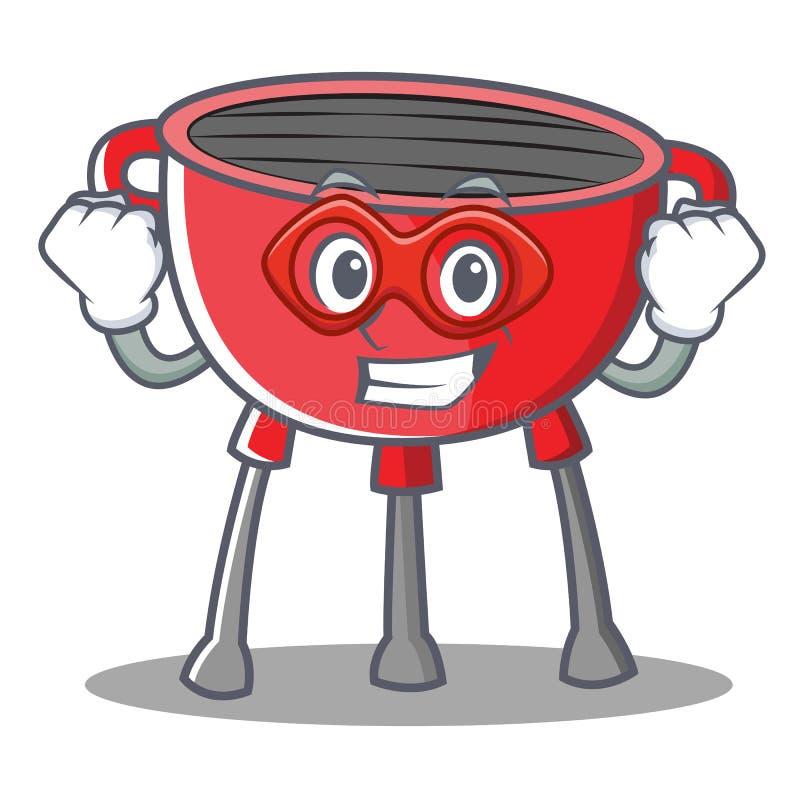Super bohatera grilla grilla postać z kreskówki ilustracji