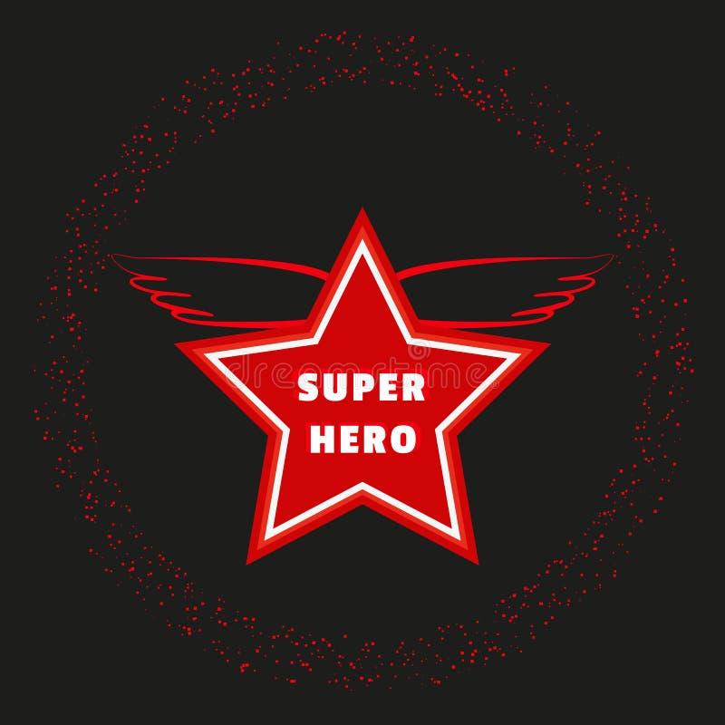 Super bohatera gwiazda royalty ilustracja