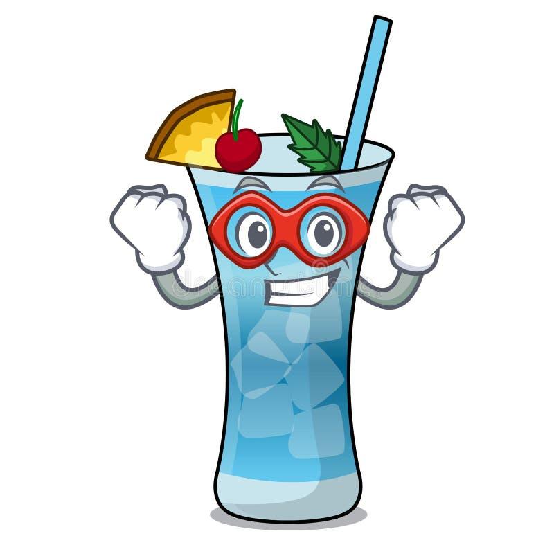 Super bohatera Hawaii charakteru błękitna kreskówka royalty ilustracja