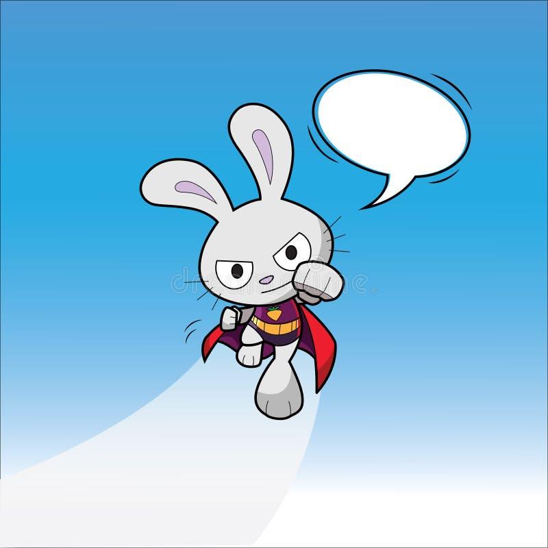 Super bohatera królik fotografia royalty free