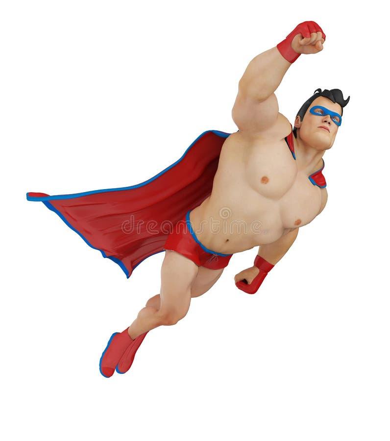 SUPER bohatera kreskówka LATA UP ilustracji
