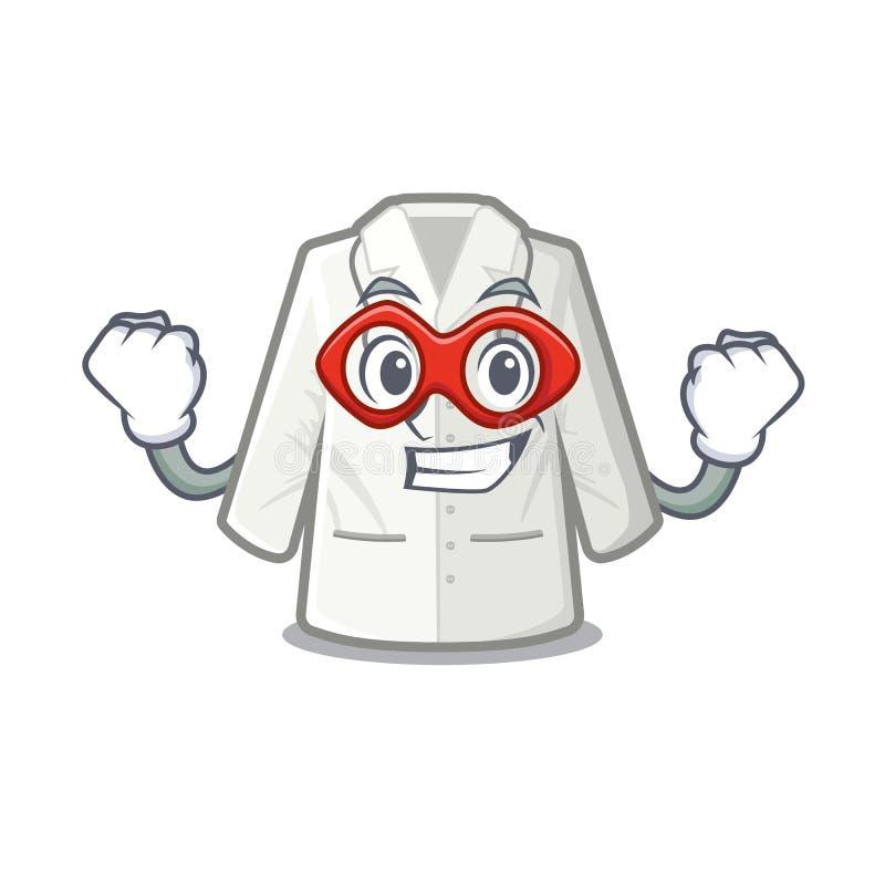 Super bohatera lekarki żakiet odizolowywający w charakterze ilustracja wektor