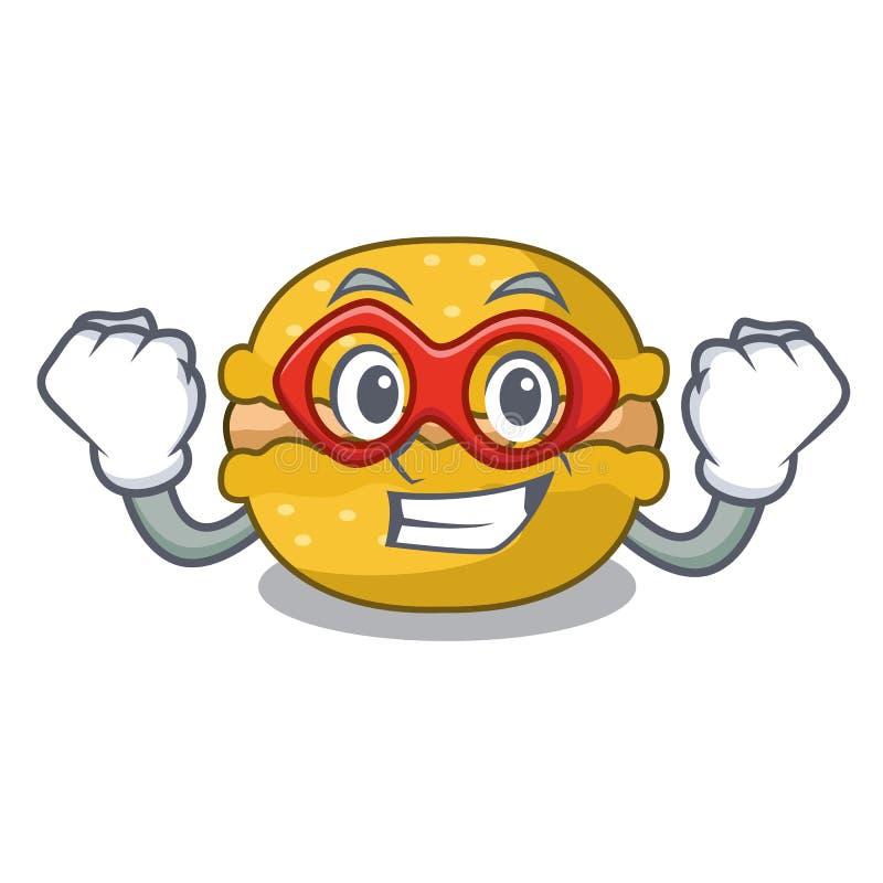 Super bohatera macarons torta bananowy kształt kreskówka ilustracji