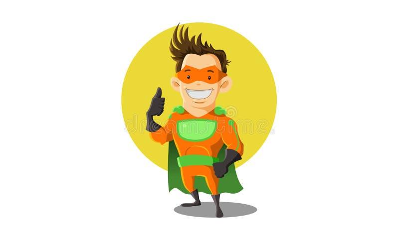 Super bohatera maskotka ilustracja wektor