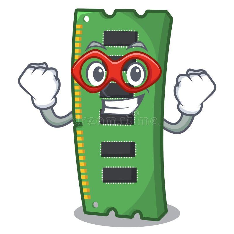 Super bohatera RAM karta pamięci maskotka kształt royalty ilustracja