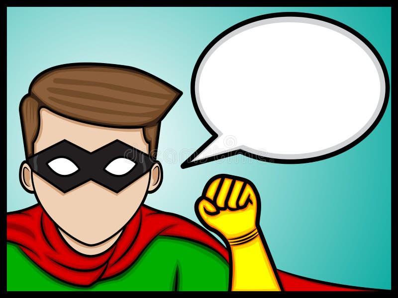 Super bohatera rozmowa ilustracja wektor