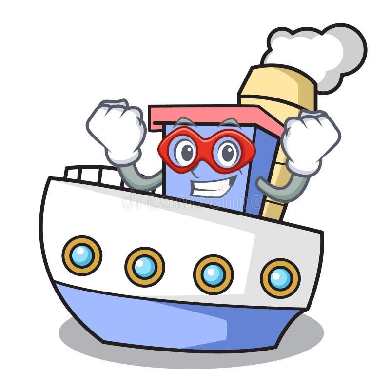Super bohatera statku charakteru kreskówki styl royalty ilustracja