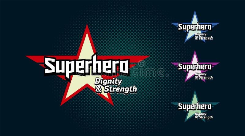 Super bohatera typografia, bohater koszulki grafika royalty ilustracja