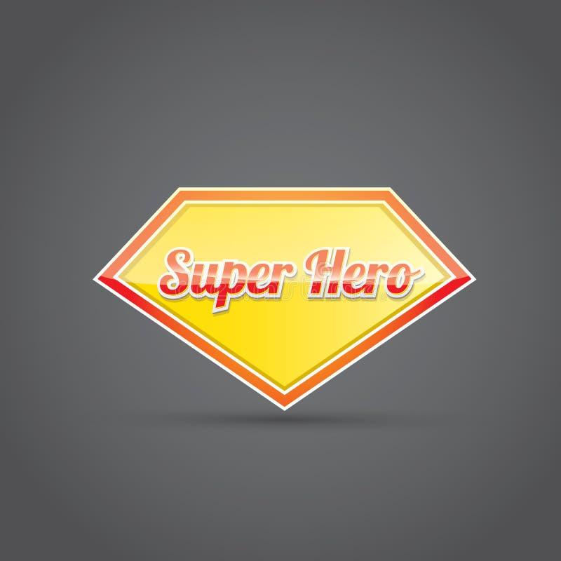 Super bohatera znak lub etykietka ilustracja wektor