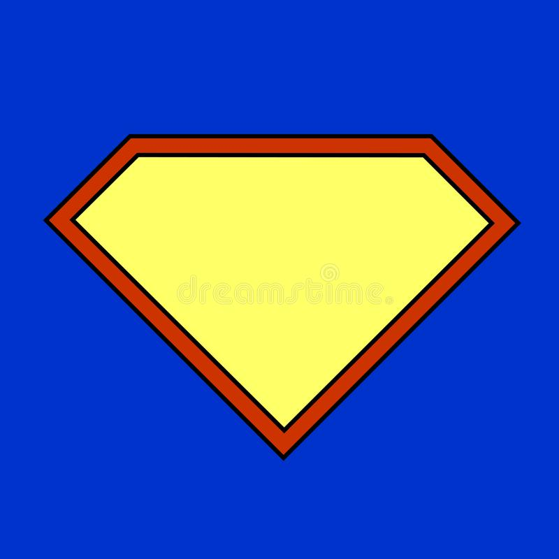 Super bohatera znak na błękitnym tle royalty ilustracja