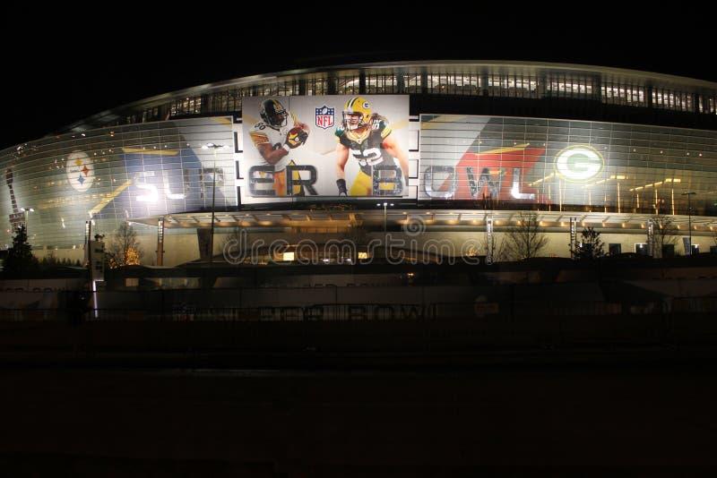 Super Bowl au stade de cowboys image libre de droits