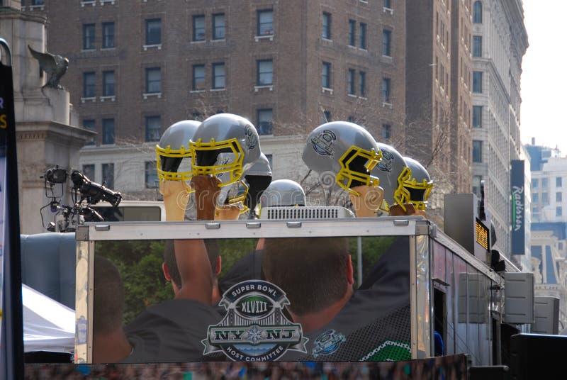 Super Bowl-Boulevard - New York City lizenzfreies stockbild