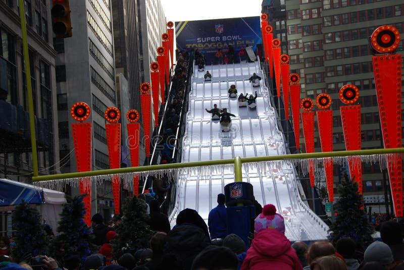 Super Bowl-Boulevard - New York City stockfotografie