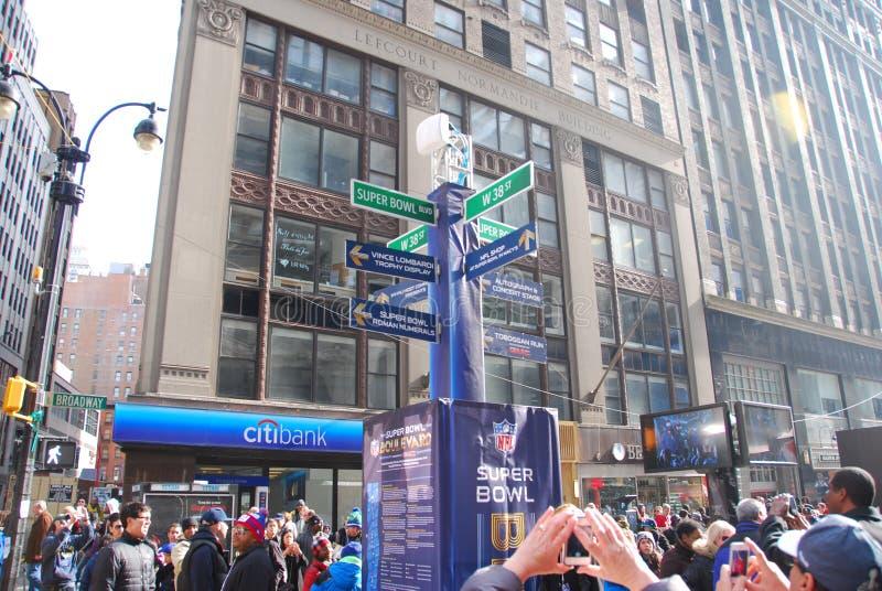 Super Bowl Boulevard - New York City royalty free stock photo
