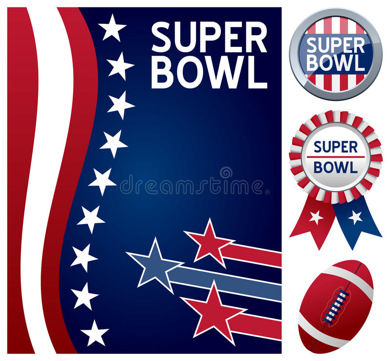 Super Bowl fijado ilustración del vector
