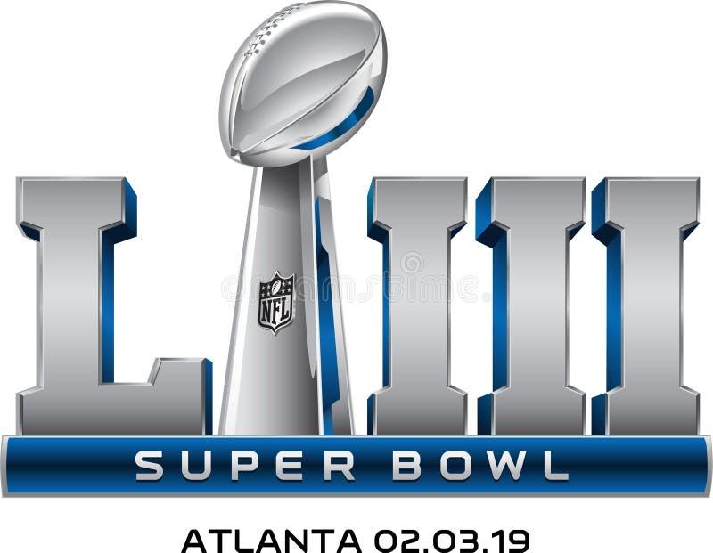 Super Bowl LIII logo wektor zdjęcia royalty free